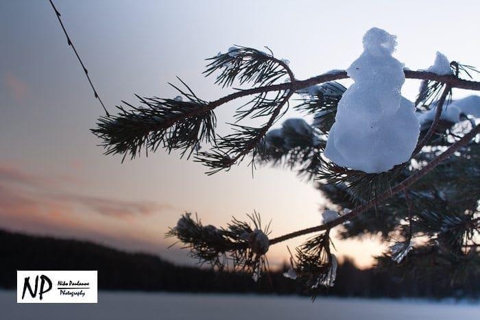 Lumiukko - snow man :)